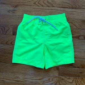 Baby Gap boys neon swim trunks, size 3T